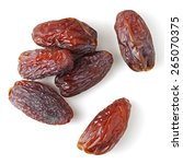 medjool dates from above... | Shutterstock . vector #265070375