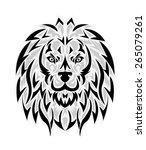 lion tattoo | Shutterstock .eps vector #265079261