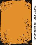grunge orange floral frame | Shutterstock .eps vector #26508241