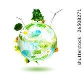 green world concept.... | Shutterstock . vector #26508271