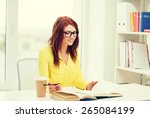 education concept   smiling... | Shutterstock . vector #265084199