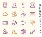 social media web icons | Shutterstock .eps vector #265099859