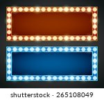 blue red gold colored vector... | Shutterstock .eps vector #265108049