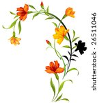 floral frame. | Shutterstock . vector #26511046