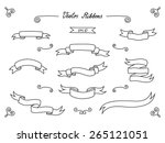hand drawn sketch ribbons... | Shutterstock .eps vector #265121051
