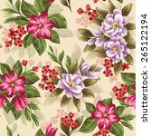 seamless pattern with beautiful ... | Shutterstock .eps vector #265122194
