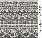 set of seamless lace borders | Shutterstock .eps vector #265122197
