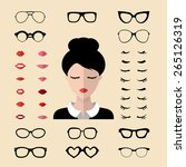 big vector set of dress up... | Shutterstock .eps vector #265126319