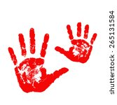 mother and child handprints... | Shutterstock .eps vector #265131584
