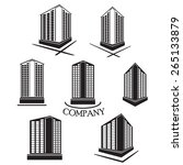set of company building vector... | Shutterstock .eps vector #265133879