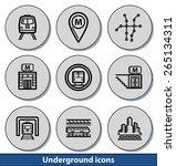 set of light underground icons... | Shutterstock .eps vector #265134311