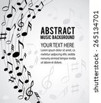 music notes on a solide white... | Shutterstock .eps vector #265134701