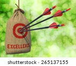 excellence  three arrows hit in ... | Shutterstock . vector #265137155