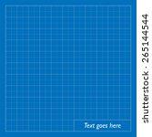 blank blueprint background.... | Shutterstock .eps vector #265144544