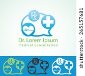 medical pharmacy logo design... | Shutterstock .eps vector #265157681