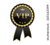 "black and gold ""vip"" rosette... 