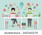 designer and programmer  work... | Shutterstock .eps vector #265165274