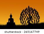 Silhouette Grass And Buddha...