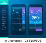 mobile application interface... | Shutterstock .eps vector #265169801