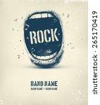 rock music poster  eps 10 | Shutterstock .eps vector #265170419