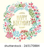 Birthday Card With Floral...