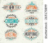 christmas decoration collection.... | Shutterstock .eps vector #265170899