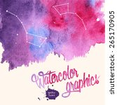 watercolor splatter background... | Shutterstock .eps vector #265170905