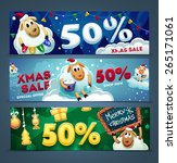 christmas sale banners with a... | Shutterstock .eps vector #265171061