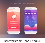 mobile application interface... | Shutterstock .eps vector #265172081