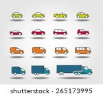 car icons set | Shutterstock .eps vector #265173995