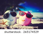 Two Easter Eggs With Sunglasse...