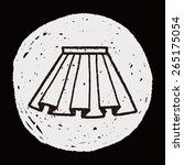 doodle pleated skirt | Shutterstock . vector #265175054