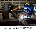 welder in a factory | Shutterstock . vector #265178561