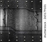 crack metal background template  | Shutterstock . vector #265179101