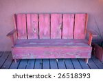 wooden bench on a porch of... | Shutterstock . vector #26518393