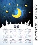 simple 2016 year vector... | Shutterstock .eps vector #265186619