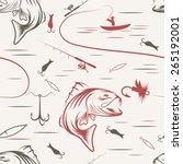 seamless pattern for fishing...   Shutterstock .eps vector #265192001