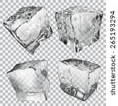set of four transparent ice... | Shutterstock .eps vector #265193294