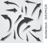 vector illustration set of... | Shutterstock .eps vector #265194125