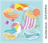 set of vector tags with text... | Shutterstock .eps vector #265194941