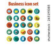 business icon button vector. | Shutterstock .eps vector #265195085