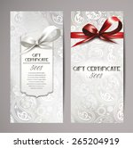 elegant white gift certificates ...   Shutterstock .eps vector #265204919