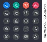 telephone line icons   Shutterstock .eps vector #265206494