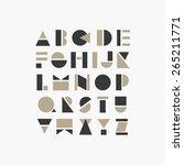 geometric font design | Shutterstock .eps vector #265211771