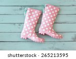 Pink Polka Dot Shoes On Mint...