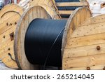 Wooden Coils Of Electric Cable...