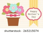 cute retro card for mother's... | Shutterstock .eps vector #265215074