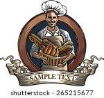 vector illustration of a baker  ... | Shutterstock .eps vector #265215677