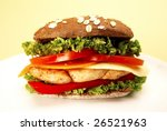 delicious sandwich with chicken ... | Shutterstock . vector #26521963