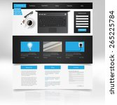 website template design. vector ... | Shutterstock .eps vector #265225784